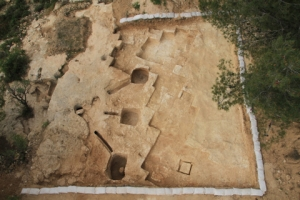Bagno rituale (Miqwe) del periodo del Secondo tempio riportato alla luce nel quartiere di Qiryat Menachem a Gerusalemme (Aprile 2013)