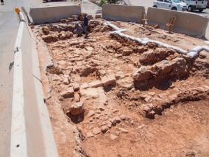 Sezione di una strada romana scoperta a Gerusalemme (Beit Hanina)